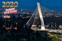 Doček Nove 2020 godine na crnogorskim trgovima - Podgorica