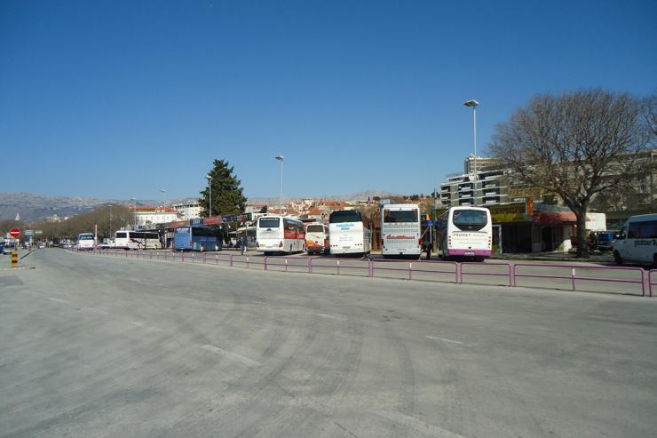 Bus Station Split Timetable Departures And Arrivals Split